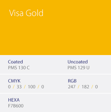 Visa Gold color sample.